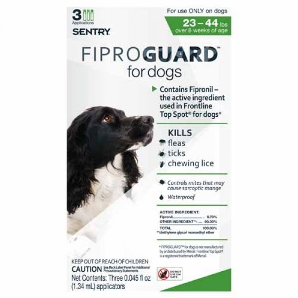 Fiproguard Squeeze On For Dogs / Size 23 44 Lbs.