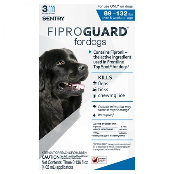 Fiproguard Squeeze On For Dogs / Size 89 132 Lbs.