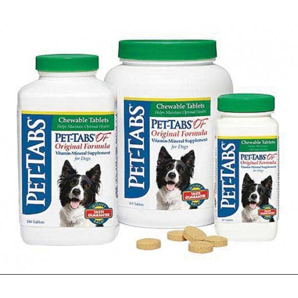 Pet Tabs Dog Chewable Tablets Original Formula / Size 60 Ct.