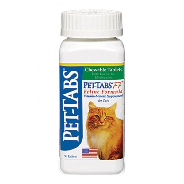 Pet Tabs Ff Chewable Tablets Feline Formula 50 Ct.