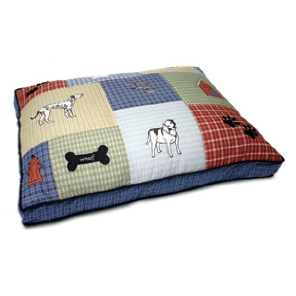 Classic Applique Gusseted Dog Bed - 27 X 36 X 3 Best Price