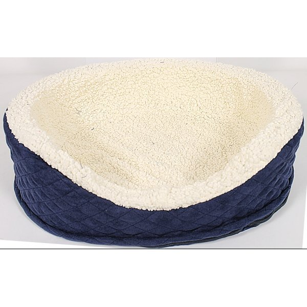 Quilted Oval Dog Lounger / Size Small/18 In.