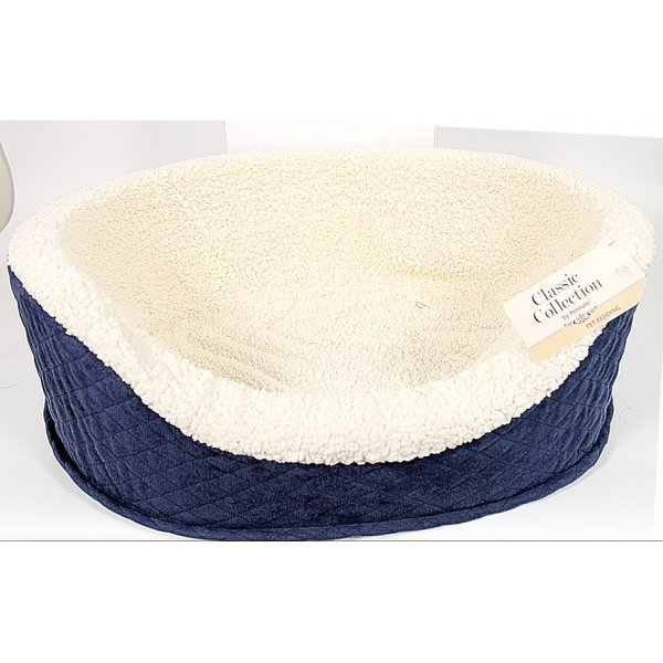 Quilted Oval Dog Lounger / Size Medium/23 In.