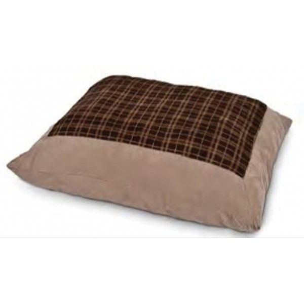 Plush Plaid Pillow 27 X 36 In.