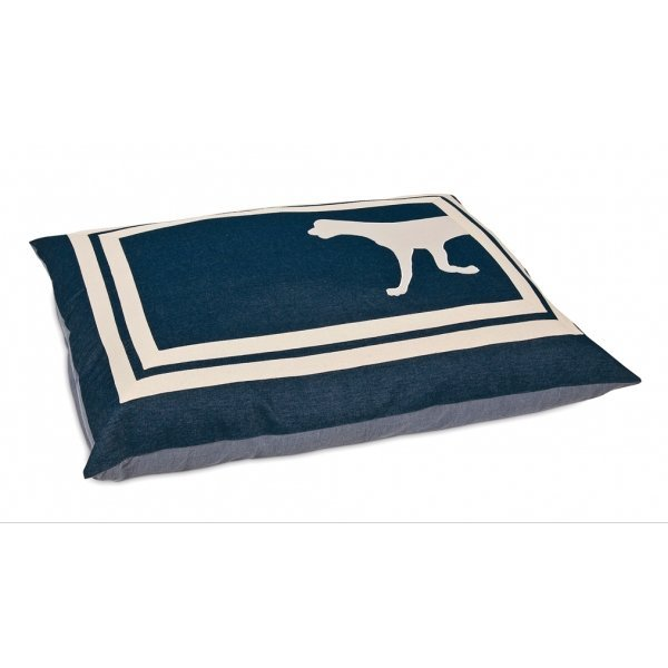 Applique Denim Pillow Pet Bed 27x36 in. each Best Price