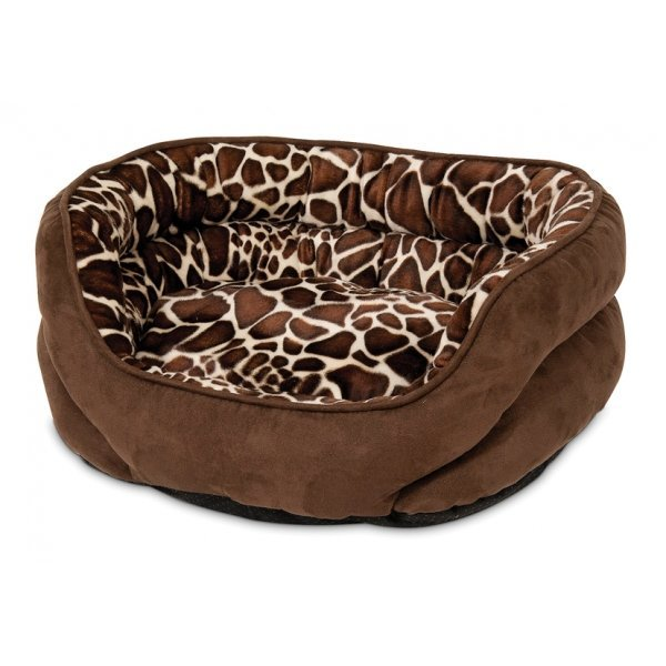 Oval Bolster Lounger Pet Bed 24x19 in. Best Price
