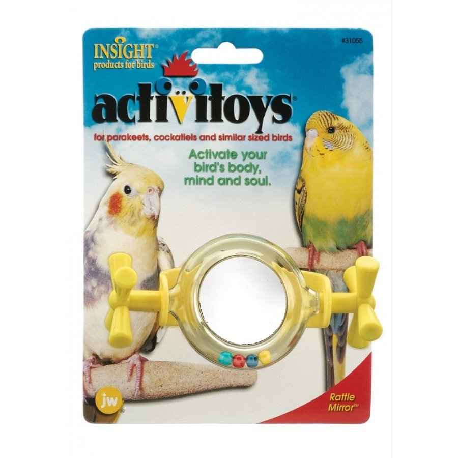 Rattle Mirror Bird Toy