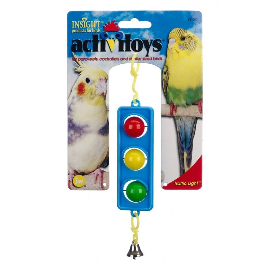 Traffic Light Hanging Bird Toy 7.5 In.