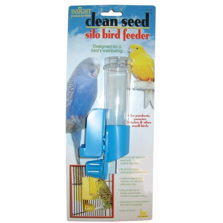 Clean Seed Silo Bird Feeder / Size Regular