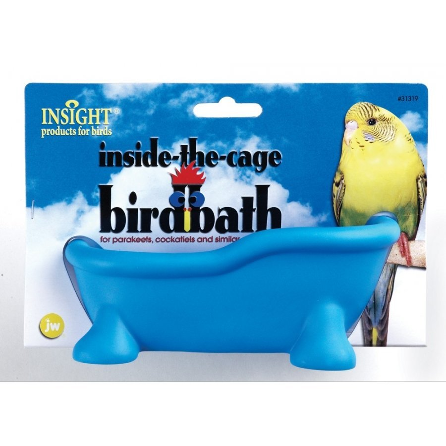 Insight Inside The Cage Bird Bath For Pet Birds