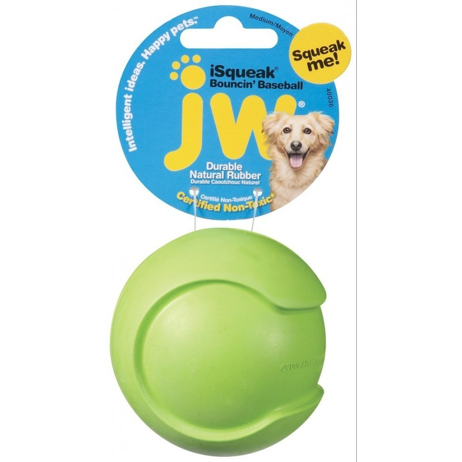 Isqueak Dog Toy / Size Medium Baseball