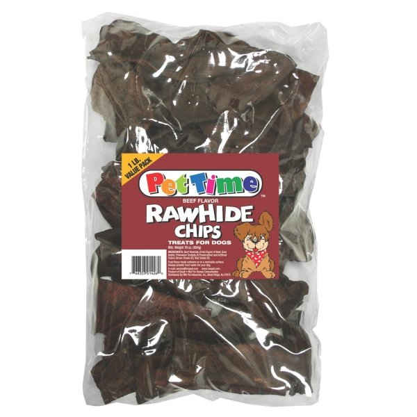Flavored Rawhide Strips For Dogs 1 Lbs / Flavor Beef