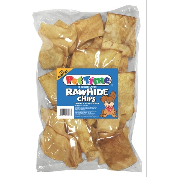 Flavored Rawhide Strips For Dogs 1 Lbs / Flavor Chicken