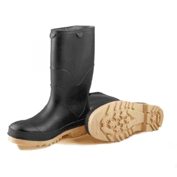 Kids Black StormTracks Waterproof PVC Boots / Size (Youth 1) Best Price