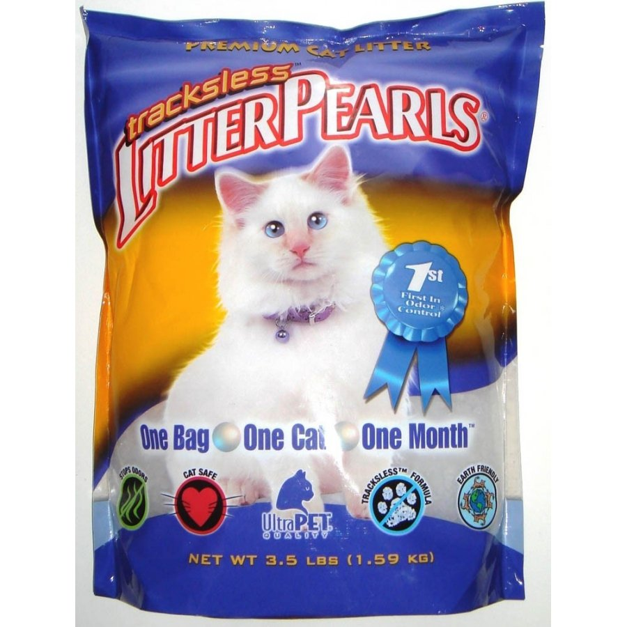 Tracks Less Litter Pearls Cat Litter / Size 3.5 Lbs.