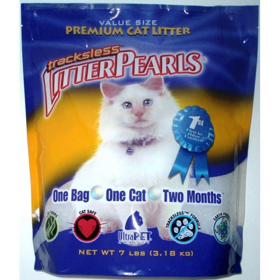 Tracks Less Litter Pearls Cat Litter / Size 7 Lbs