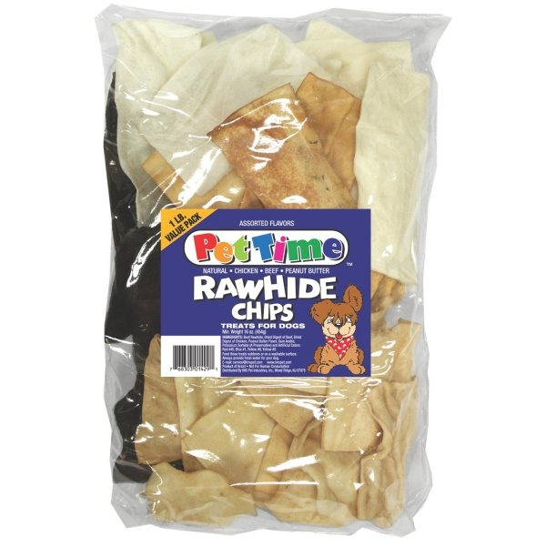Assorted Rawhide Chips For Dogs 16 Oz.