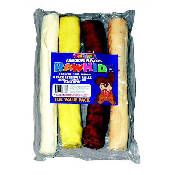 10 in. Assorted Retriever Rolls for Dogs - 1lb. Best Price