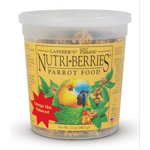 Nutri Berries Bird Food / Type Parrot / 12 Oz.