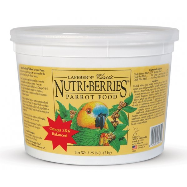 Nutri Berries Bird Food / Type Parrot / 3.5 Lbs