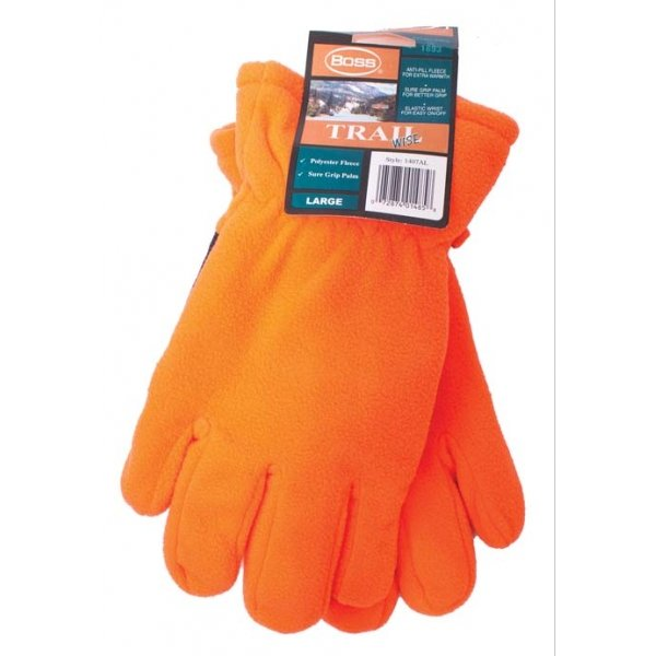 Blaze Fleece Sure Grip Gloves - Large (Case of 12) Best Price