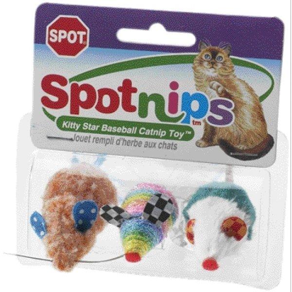Spot Nips Rainbow Mice Cat Toys / Qty 3 Pack