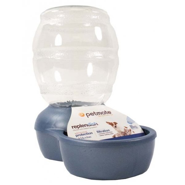 Replendish Pet Waterer With Microban / Size 1 Gal / Blue