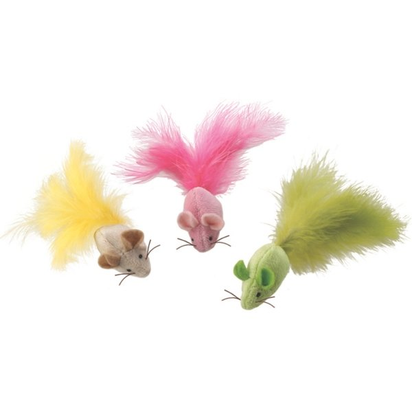 Plush Fantastic Feathers Mouse Cat Toy Best Price