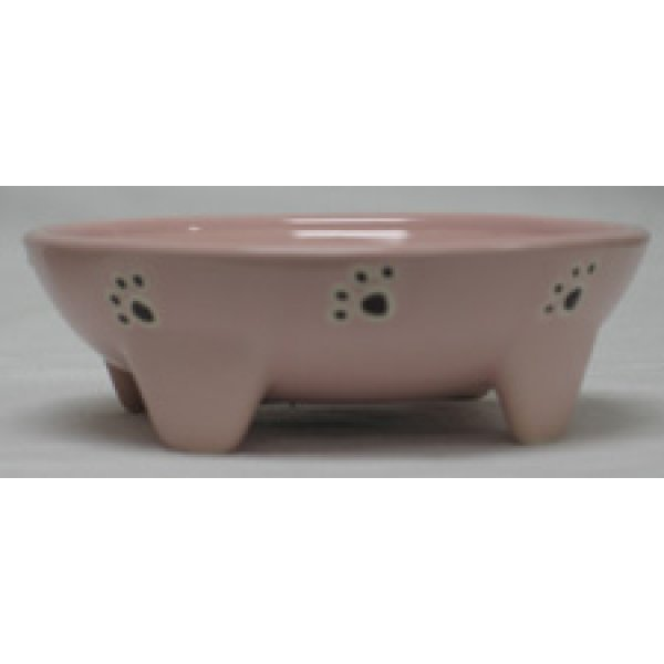Footed Ceramic Pet Dish / Size (5 in Pink / Cat) Best Price
