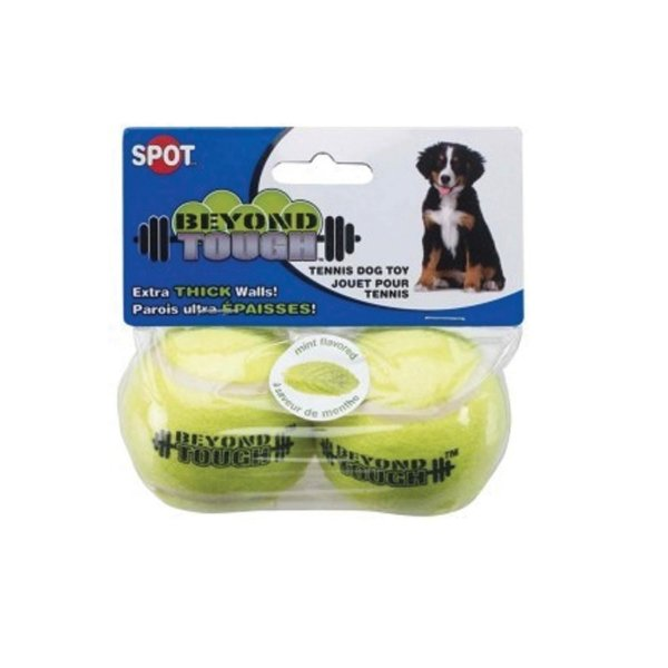 Beyond Tough Tennis Ball 2.5 in. Dog Toy - 2PK Best Price