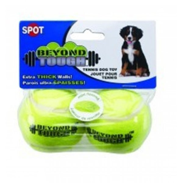 Beyond Tough Small Tennis Ball Dog Toy - 2PK Best Price