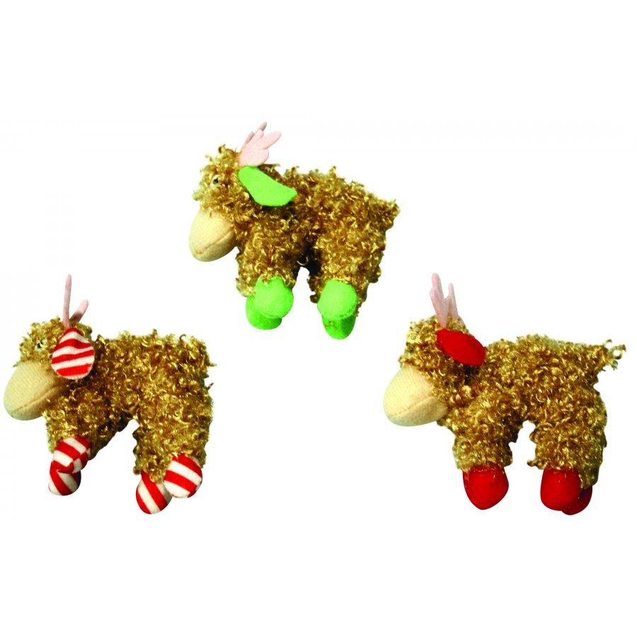 Cat Curlie Cuties Reindeer With Catnip Case Of 12