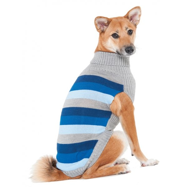 Best In Stripe Dog Sweater / Size (Small / Blue) Best Price