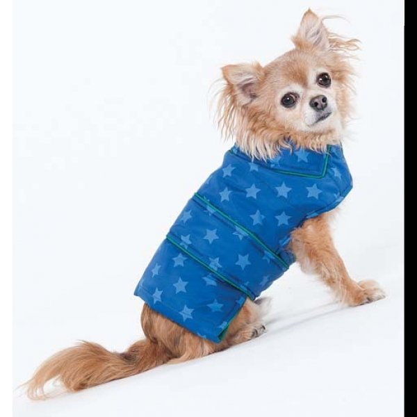 Blue Star Puffy Blanket Coat / Size (Small / Blue) Best Price