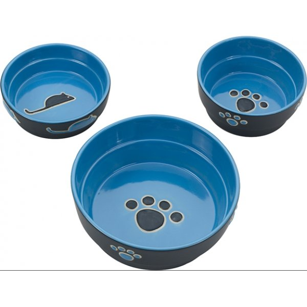 Fresco Cat Dish / Size (5 In. / Blue)  Picture