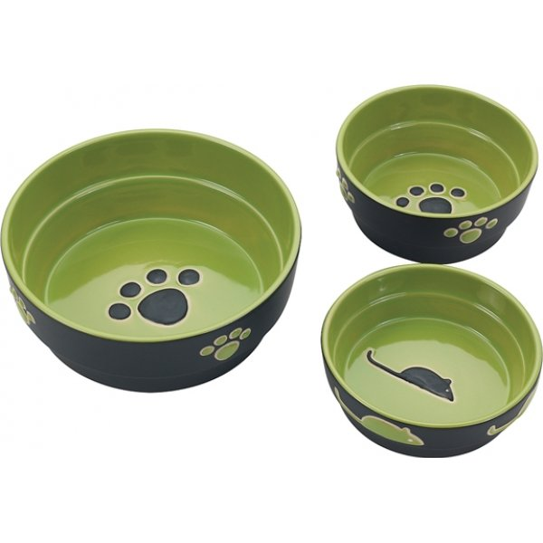 Fresco Cat Dish / Size (5 in. / Green)