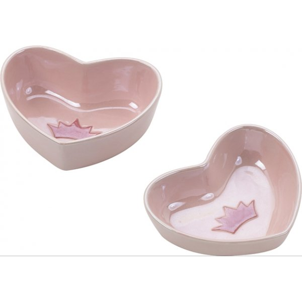 Sweetheart Cat Dish / Size 5 In. / Pink