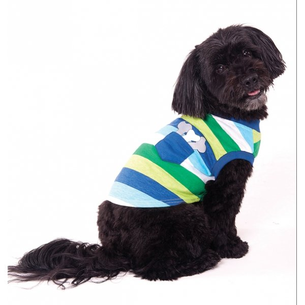 Bone Stripe Dog Tee / Size (XSmall) Best Price