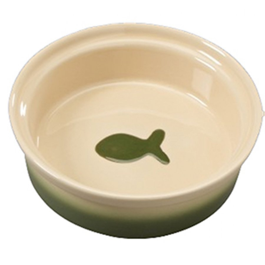 Two Tone Sahara Pet Dish / Size (Cat / Green 5 in.) Best Price