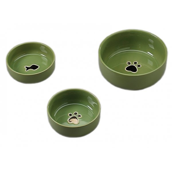 Gilded Paw Dog Dish / Size (5 in. Green) Best Price