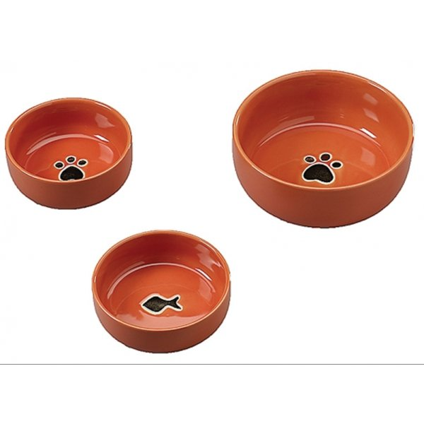 Gilded Paw Cat Dish / Color (Orange) Best Price