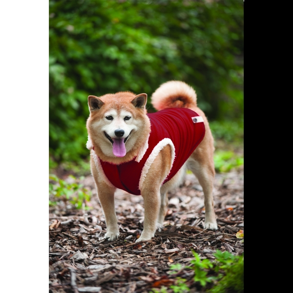 Ribbed Polar Fleece Dog Vest / Size (X-Large / Red)