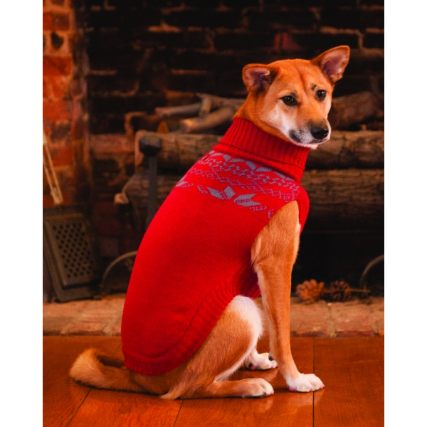 Fireside Dog Sweater / Size (Medium / Red)