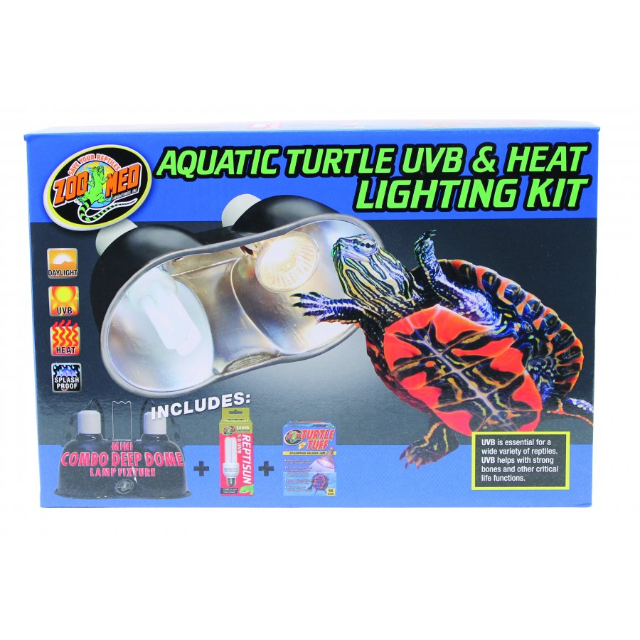 Aquatic Turtle Uvb Amp Heat Lighting Kit Aquarium Supplies