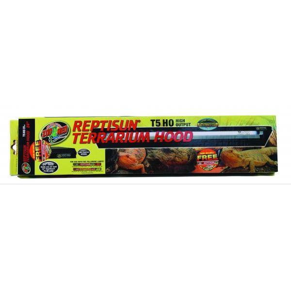 24 T5 Ho Aquarium Light Hood 2x24w Lamp Fixture: Reptisun T5 Ho Terrarium Hood Aquarium Supplies