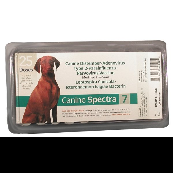 Canine Spectra 7 Vaccine w/o Syringe (Case of 25)
