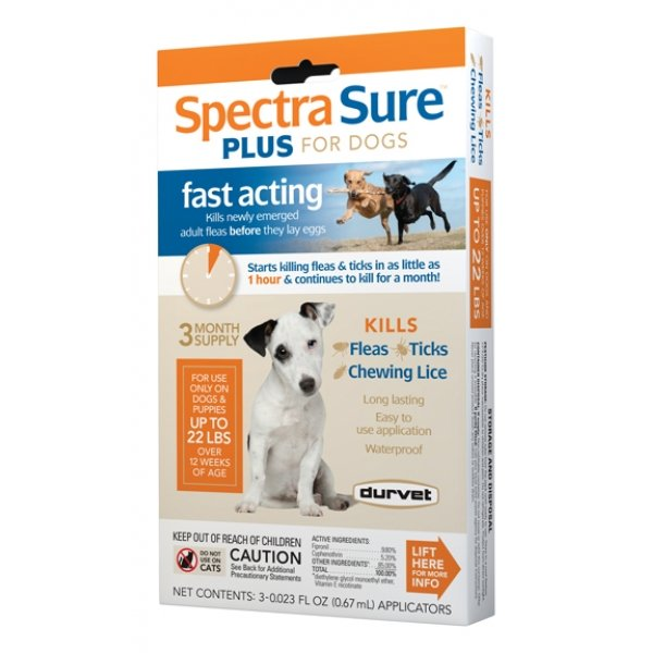 Spectra Sure Plus For Dogs / Size Up To 22 Lbs.