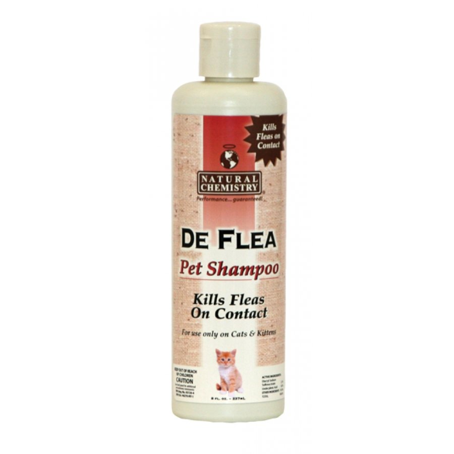 Deflea Pet Shampoo For Cats Rtu 8 Oz.