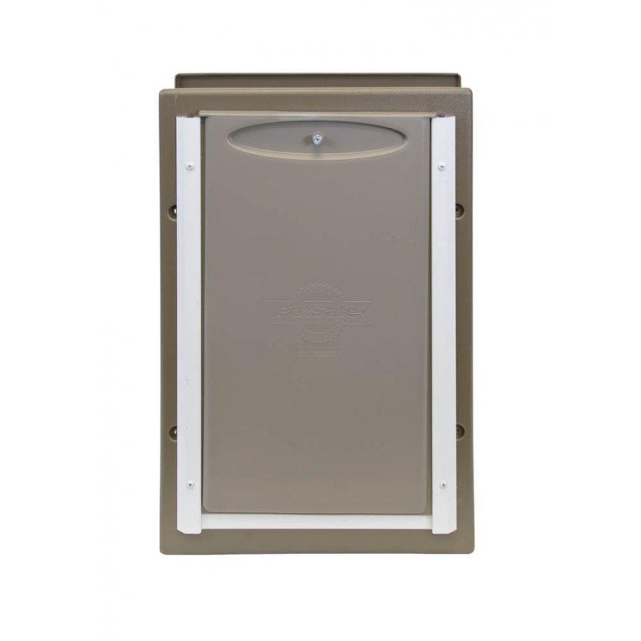 Large Wall Entry Aluminum Pet Door 14.75 X 21.5 In.