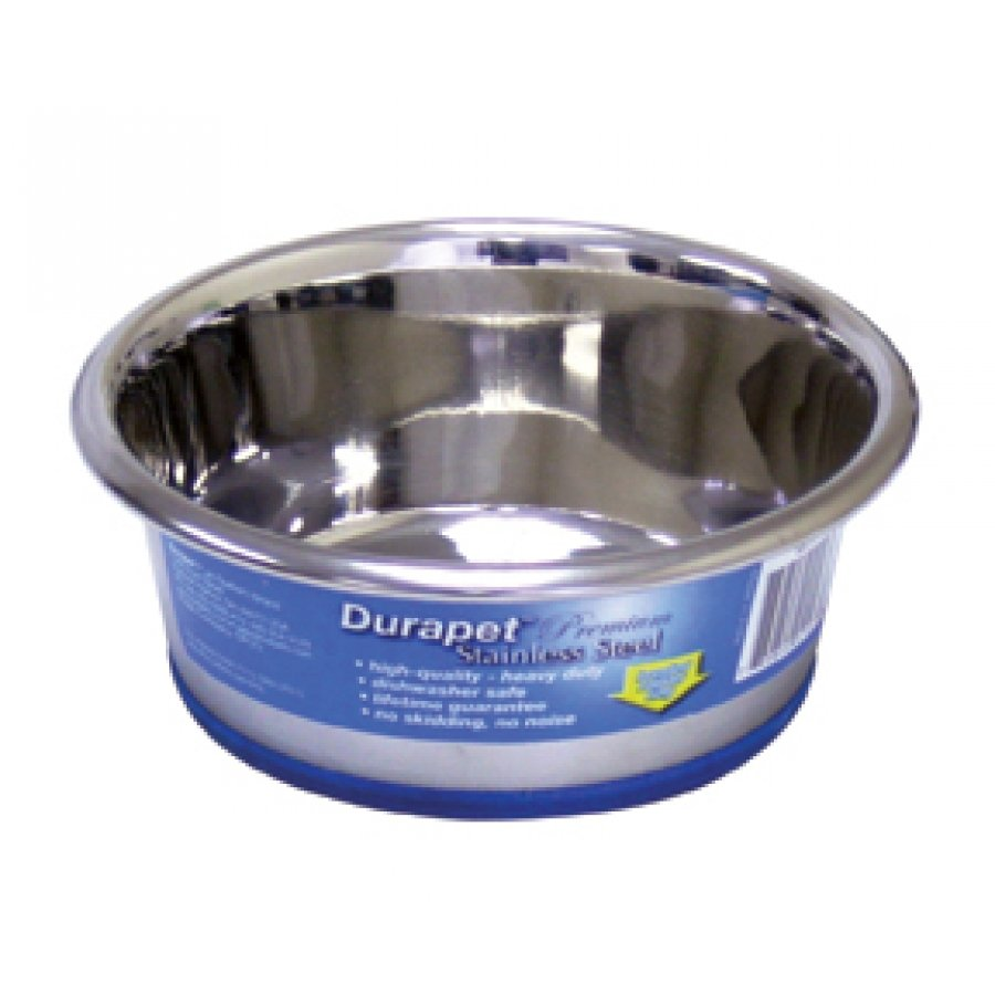 Durapet Stainless Steel Bowls For Dogs / Size 0.75 Pt